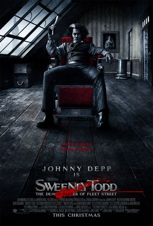 sweeney todd movie poster Sweeney Todd